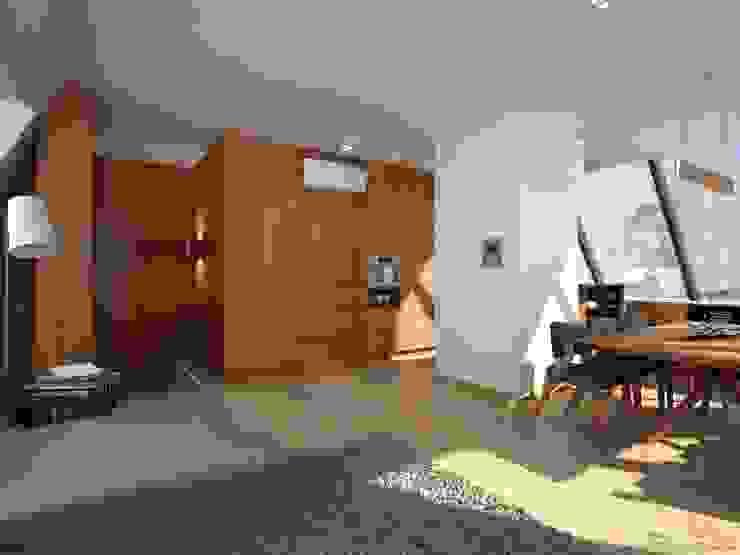 Modern Living Room by Anastasia Reicher Interior Design & Decoration in Wien Modern Wood Wood effect
