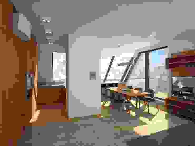 Modern Dining Room by Anastasia Reicher Interior Design & Decoration in Wien Modern Wood Wood effect