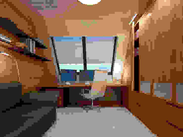 Anastasia Reicher Interior Design & Decoration in Wien Bureau moderne Bois Blanc