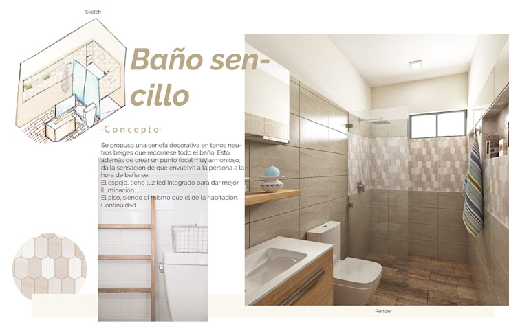 Andrea Loya Tropical style bathroom