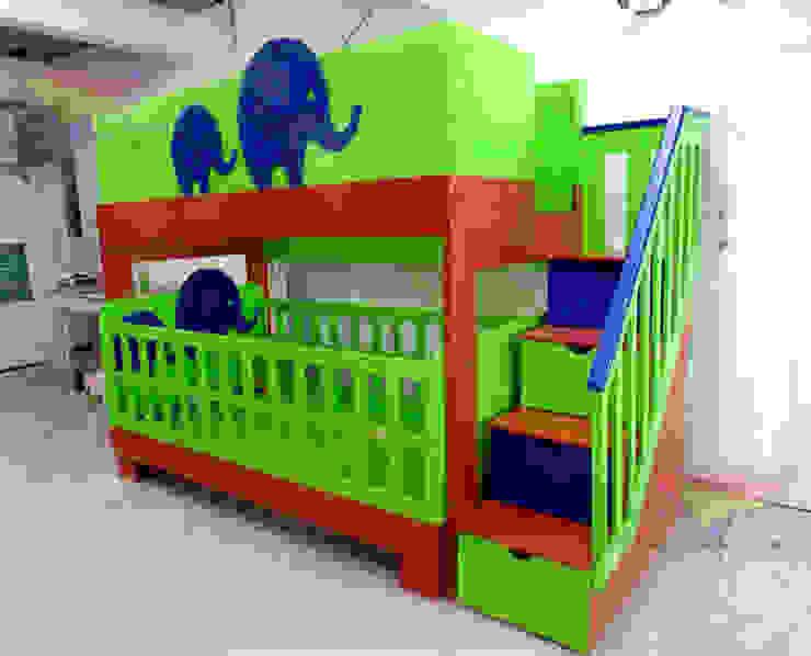 Preciosa y original litera de elefantes de camas y literas infantiles kids world Moderno Derivados de madera Transparente