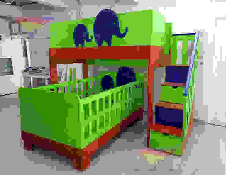 Preciosa litera con cuna de elefantes de camas y literas infantiles kids world Moderno Derivados de madera Transparente