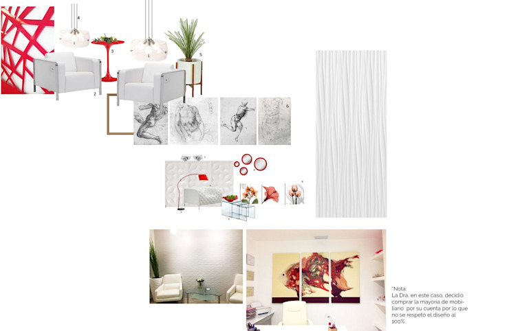 Consultorio médico Clínicas y consultorios médicos de estilo minimalista de Andrea Loya Minimalista