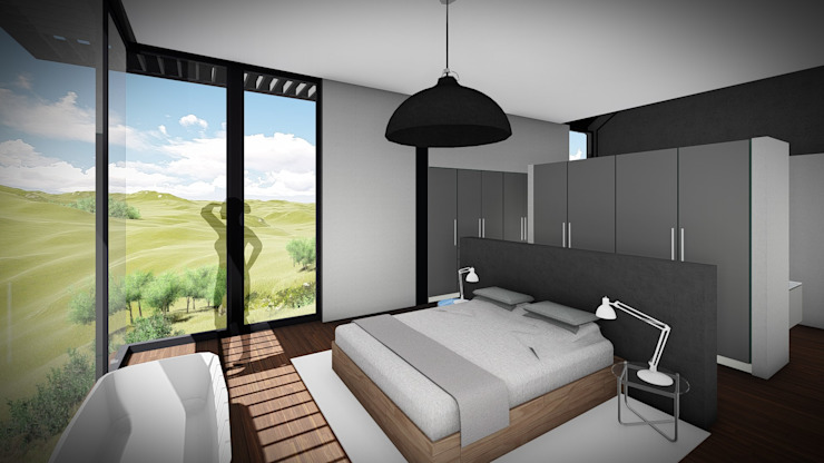Juan Pretorius Architecture PTY LTD Scandinavian style bedroom