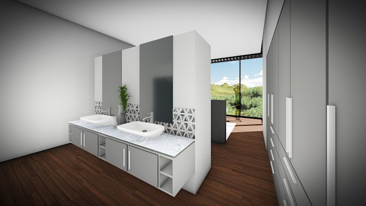 Juan Pretorius Architecture PTY LTD Scandinavian style bathroom