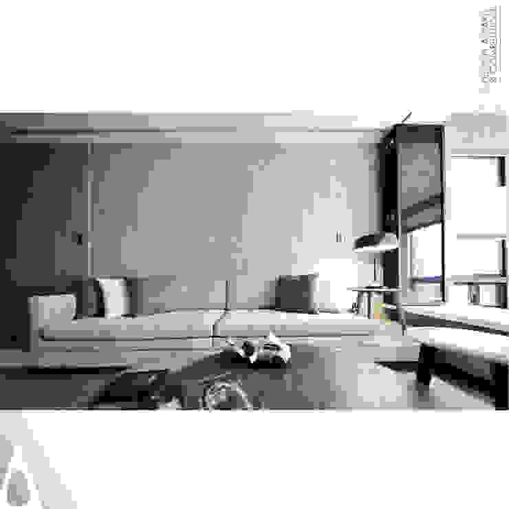 訂製沙發 现代客厅設計點子、靈感 & 圖片 根據 張立群建築師事務所 |集創國際室內裝修設計有限公司 現代風 強化水泥