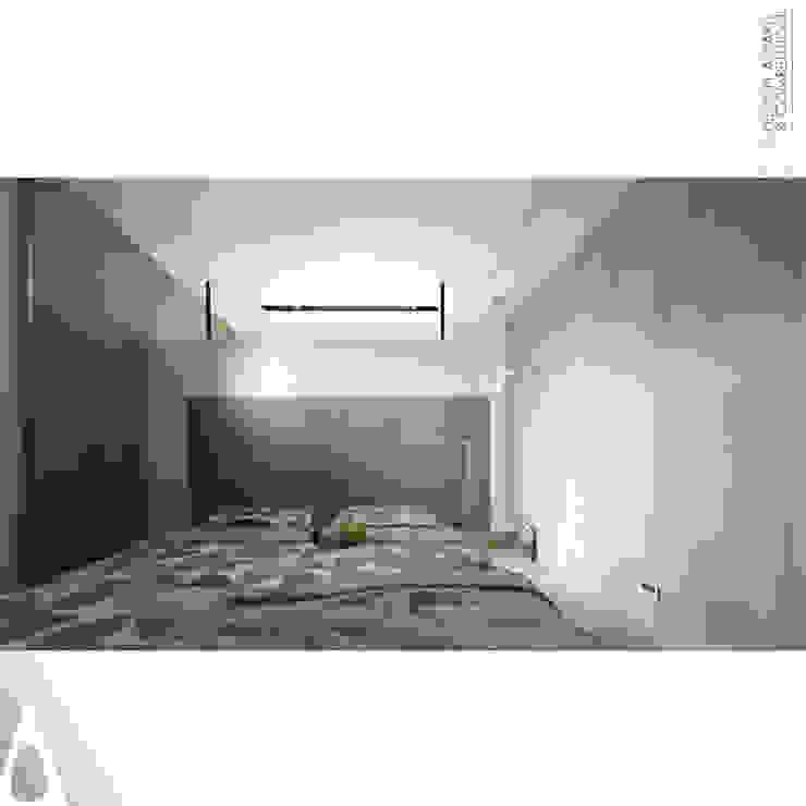 半開放更衣間 根據 張立群建築師事務所 |集創國際室內裝修設計有限公司 現代風 實木 Multicolored