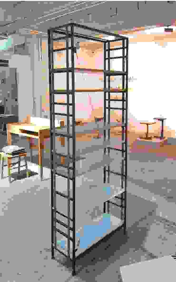 Buchspanner Steckregal Industriale Arbeitszimmer von ADUS.design Inh. Manuel Pfahl Industrial Eisen/Stahl