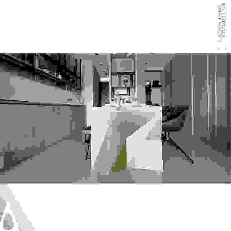金屬餐桌: 現代  by 張立群建築師事務所 |集創國際室內裝修設計有限公司, 現代風