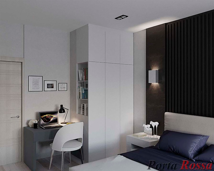 "Квартира в  ЖК ""NEW YORK Concept House"":  Спальня by Дизайн студія 'Porta Rossa',"