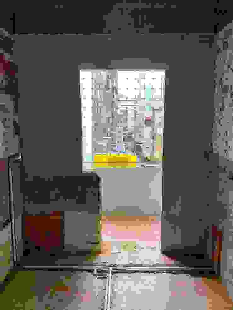 廚房的牆壁使用石膏磚 根據 寶瓏室內裝修有限公司