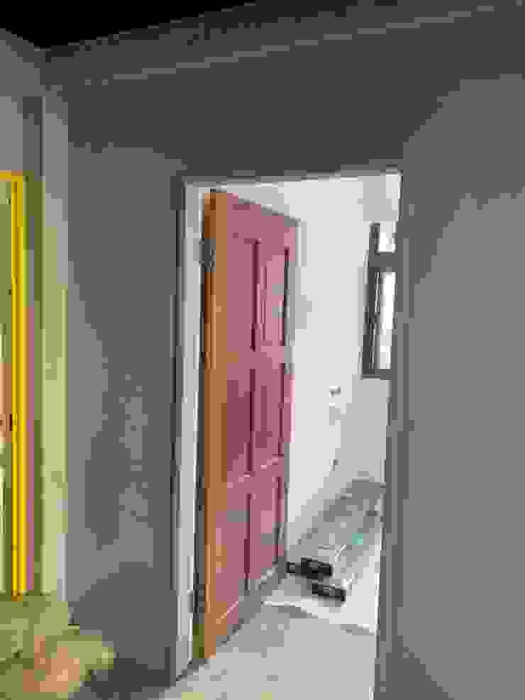 石膏磚搭建完後上漆 根據 寶瓏室內裝修有限公司