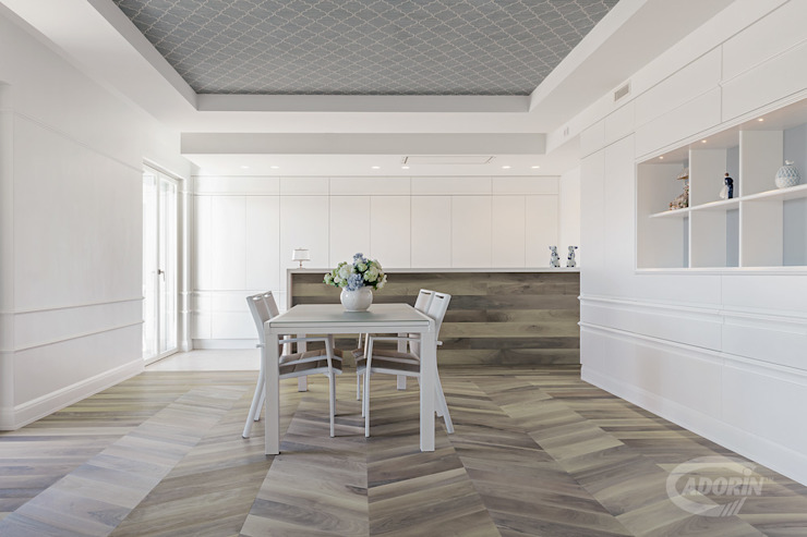 Cadorin Group Srl - Italian craftsmanship production Wood flooring and Coverings Minimalist dining room