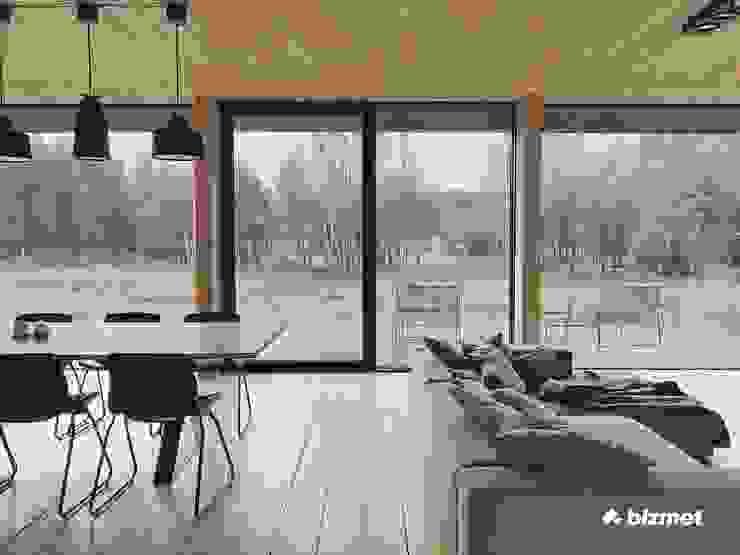 Minimal style window and door by Przedsiębiorstwo Bizmet Spółka z o.o. Minimalist Aluminium/Zinc