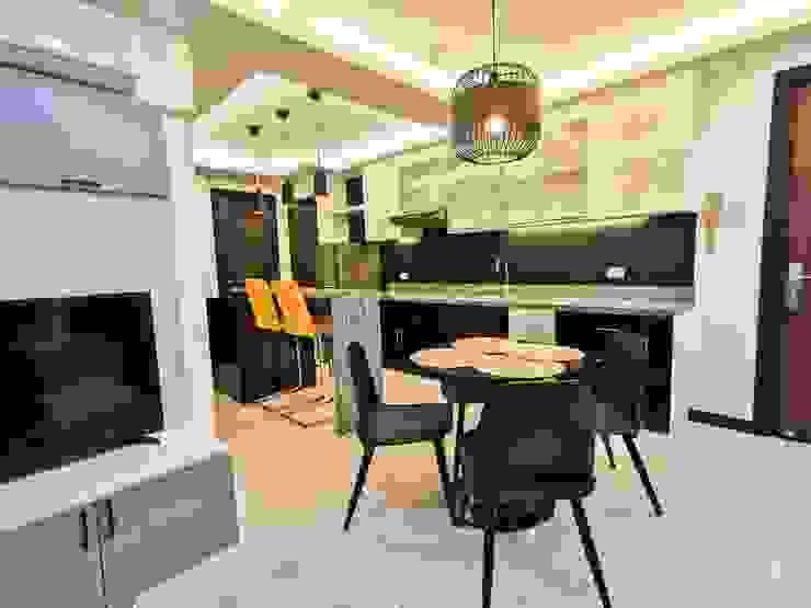 Seibu Tower Modern dining room by TG Designing Corner Modern