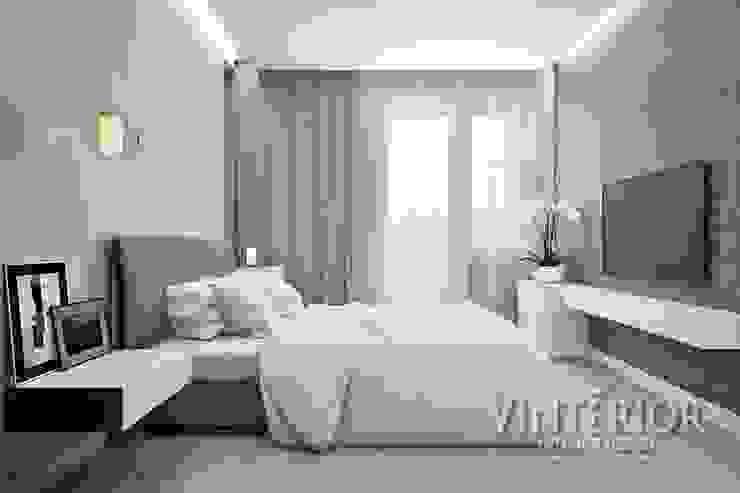 Small and cozy white and grey flat for young woman Cuartos de estilo moderno de Vinterior - дизайн интерьера Moderno