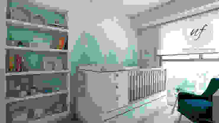 Propuesta Dormitorio Bebé de NF Diseño de Interiores Escandinavo