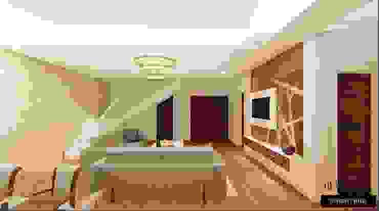 Elegant Interiors for a 3 BHK VILLA at Chennai:  Living room by Aikaa Designs,