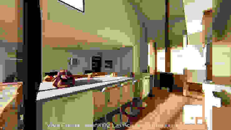 Cabaña 02 - Cocina Cocinas de estilo moderno de Territorio Arquitectura y Construccion - La Serena Moderno