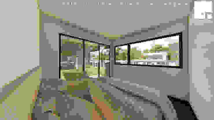 Cabaña 01 - Dormitorio Dormitorios de estilo moderno de Territorio Arquitectura y Construccion - La Serena Moderno
