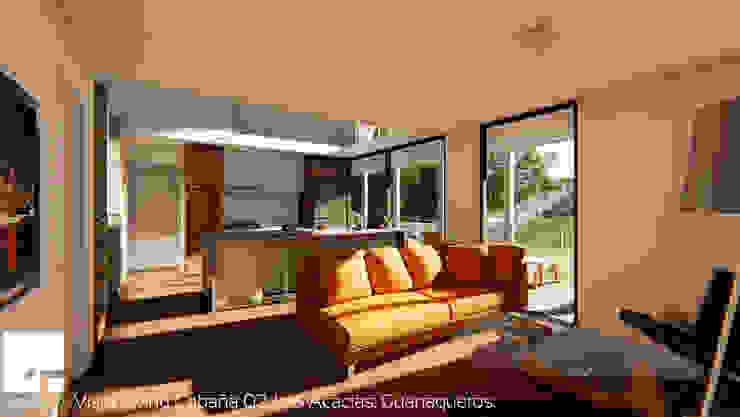 Cabaña 02 - Living Livings de estilo moderno de Territorio Arquitectura y Construccion - La Serena Moderno