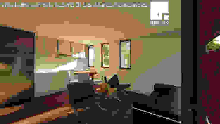 Cabaña 01 - Living Comedor Livings de estilo moderno de Territorio Arquitectura y Construccion - La Serena Moderno