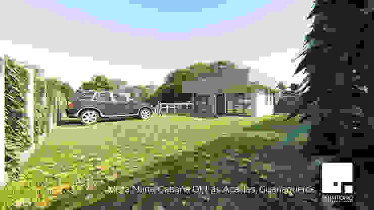 Vista Norte de la Cabaña 01 de Territorio Arquitectura y Construccion - La Serena Moderno