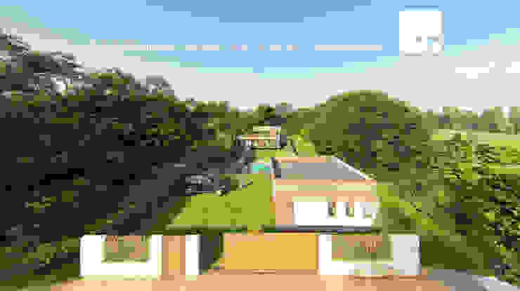 Acceso al complejo - Vista Poniente de Territorio Arquitectura y Construccion - La Serena Moderno
