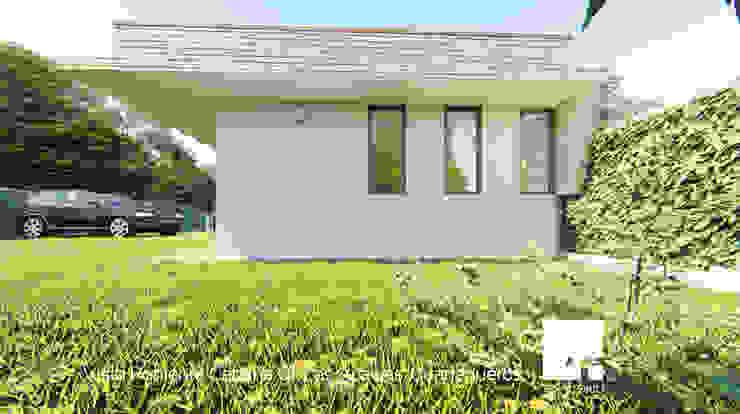 Vista Poniente de la Cabaña 01 de Territorio Arquitectura y Construccion - La Serena Moderno