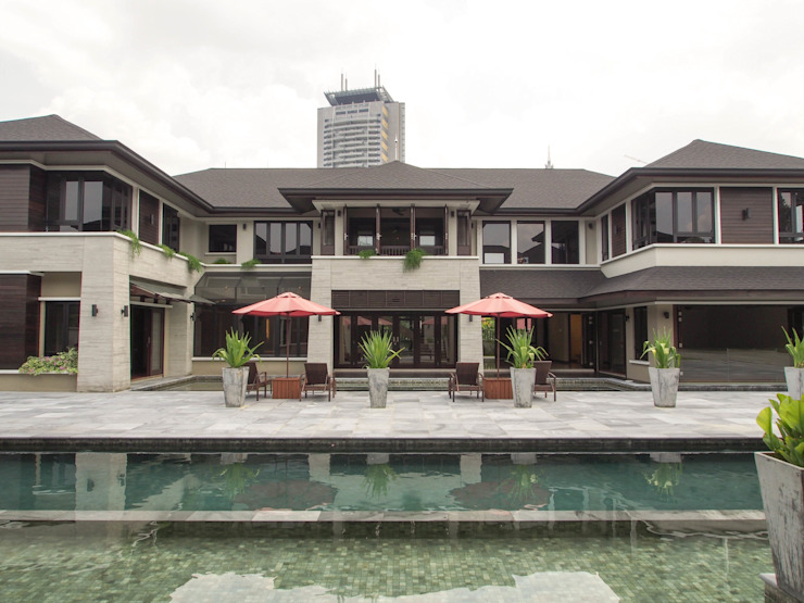 Luxury Bungalows @ Lorong Gurney Kuala Lumpur Tropical style houses by Mode Architects Sdn Bhd Tropical