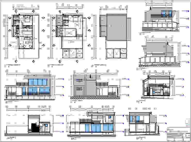 Diseño de Cabañas Las Acacias en el balneario Guanaqueros en Coquimbo de Territorio Arquitectura y Construccion - La Serena Moderno