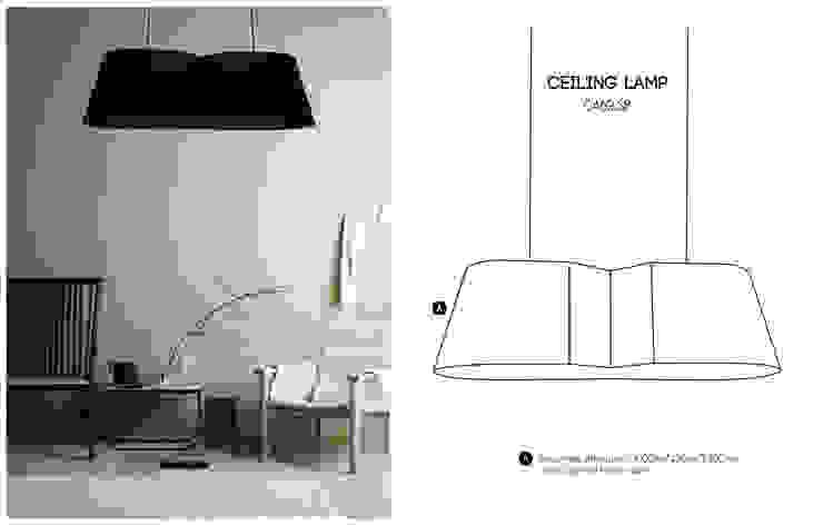 Abajur tecido com dois pontos de luz. Corep Iberica - Soc Unip, Lda Sala de estarIluminação Têxtil Preto