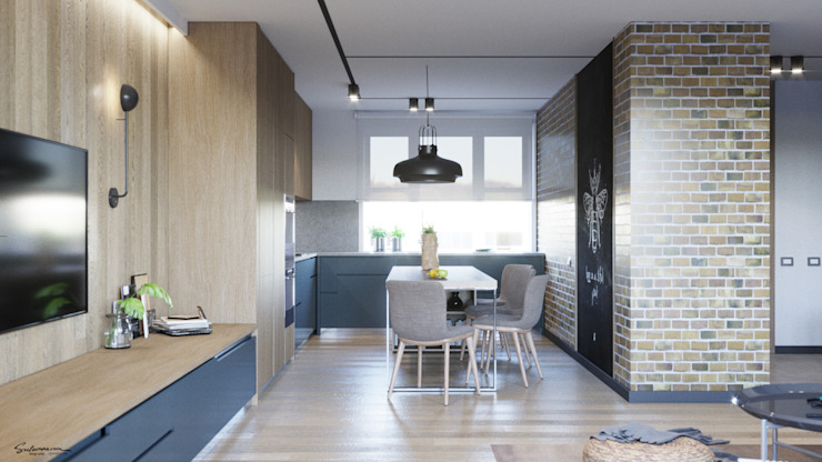 Industrial style kitchen by Suleimanova interior Industrial