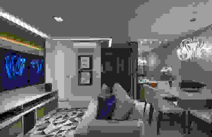 Ruang Keluarga Modern Oleh Bruno Sgrillo Arquitetura Modern