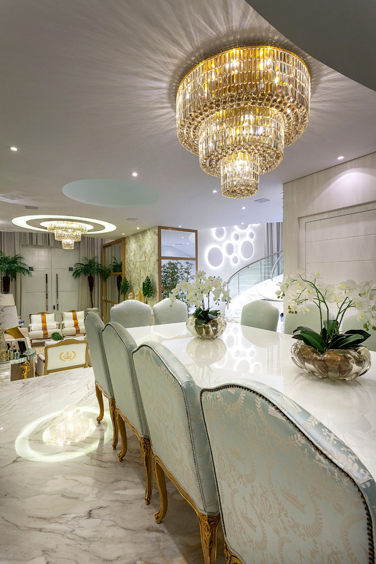 Casa Real Salas de jantar modernas por Designer de Interiores e Paisagista Iara Kílaris Moderno
