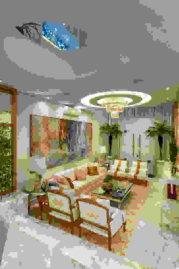 Casa Real Salas de estar modernas por Designer de Interiores e Paisagista Iara Kílaris Moderno