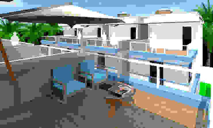 Balcones y terrazas de estilo moderno de ARQ-PB Arquitetura e Construção Moderno Pizarra