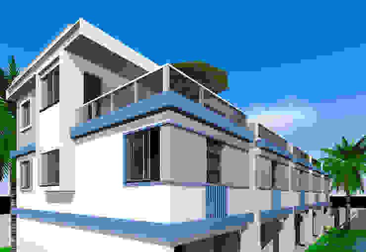 Villa de style  par ARQ-PB Arquitetura e Construção, Moderne Briques