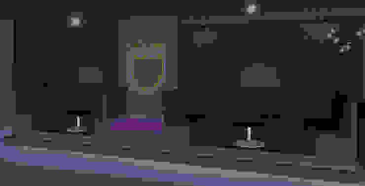 Visualisierung Club Interior - Dom Pérignon Lounge Kaldma Interiors - Interior Design aus Karlsruhe