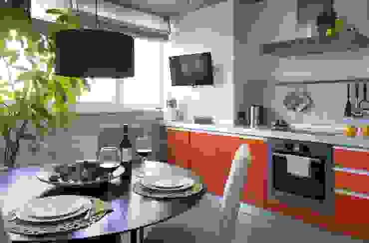Irina Yakushina Dapur Minimalis MDF Orange