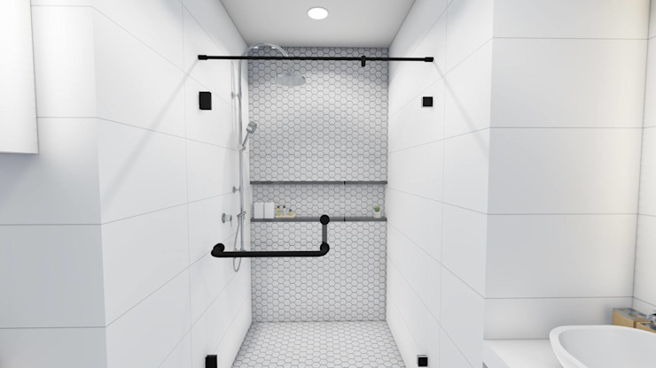 Interior Fit-Out and Design for a Condo Unit Modern bathroom by Structura Architects Modern