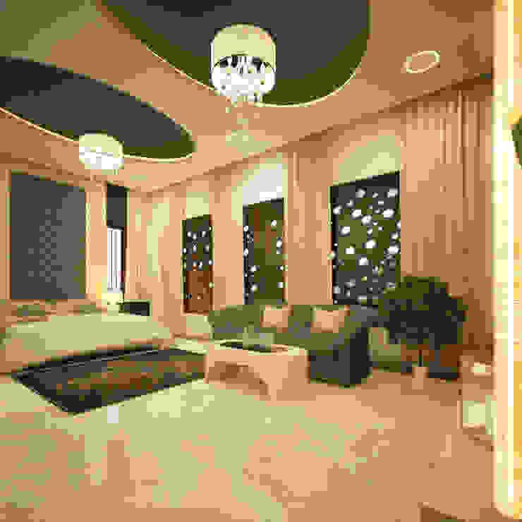 Salas de estilo moderno de Monnaie Interiors Pvt Ltd Moderno Madera maciza Multicolor