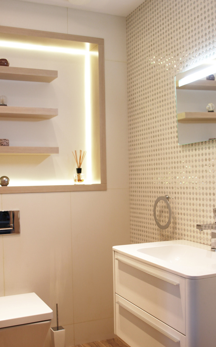 Загородный дом в Юкках Ванная комната в стиле минимализм от Wide Design Group Минимализм