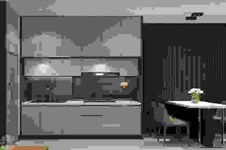 Thiết kế thi công nội thất chung cư Hà Đô HCM Nhà bếp phong cách hiện đại bởi Lio Decor Hiện đại