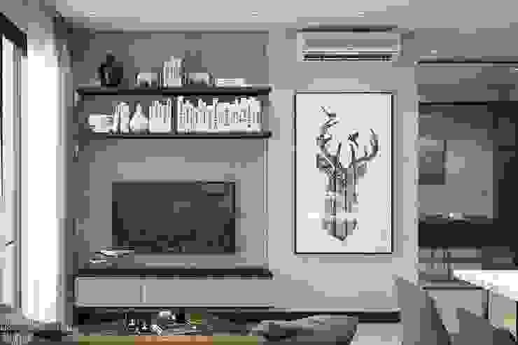 Thiết kế thi công nội thất chung cư Hà Đô HCM bởi Lio Decor Hiện đại