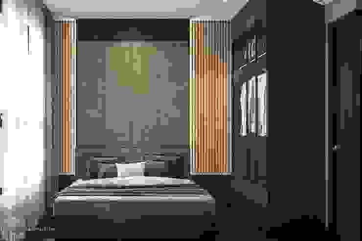 Thiết kế thi công nội thất chung cư Hà Đô HCM Phòng ngủ phong cách hiện đại bởi Lio Decor Hiện đại