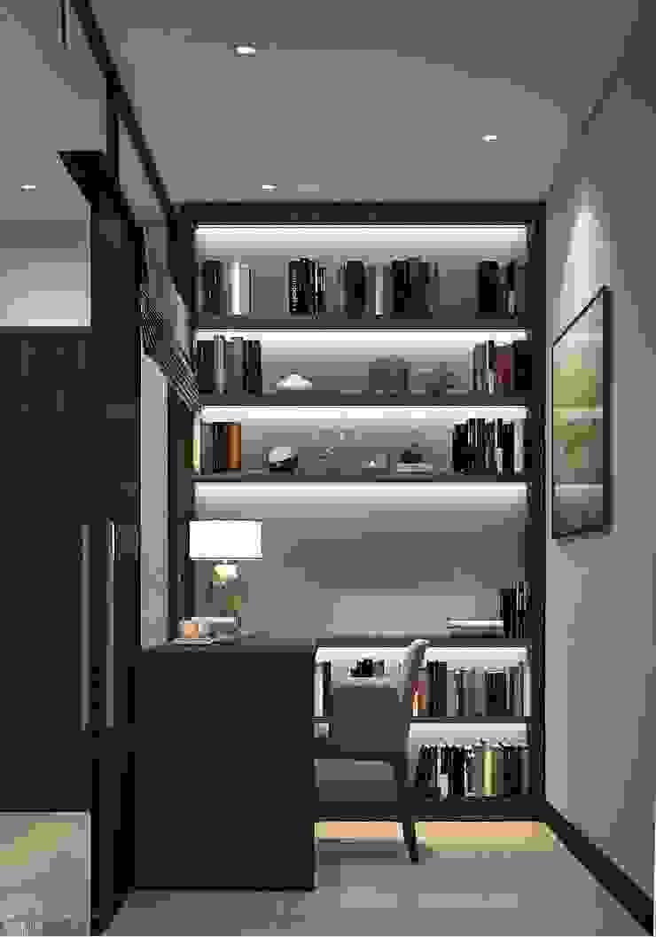 Thiết kế thi công nội thất chung cư Hà Đô HCM Phòng học/văn phòng phong cách hiện đại bởi Lio Decor Hiện đại