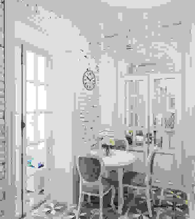 Квартира на Садовой, г. Москва lesadesign Кухня в классическом стиле Кирпичи Белый