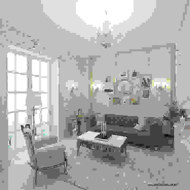 Квартира на Садовой, г. Москва lesadesign Гостиная в классическом стиле Твердая древесина Бежевый