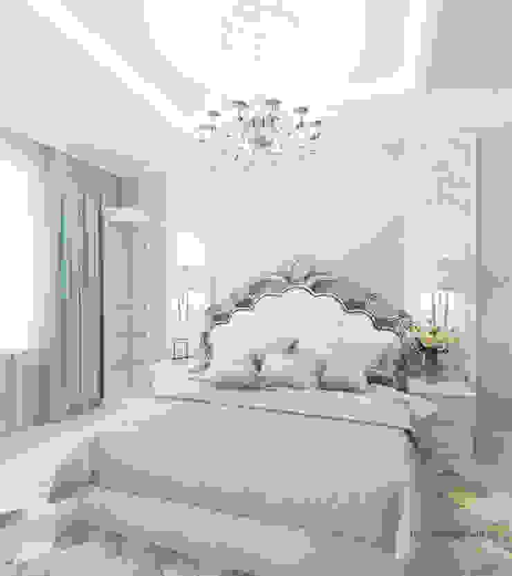 Квартира на Садовой, г. Москва lesadesign Спальня в классическом стиле Белый
